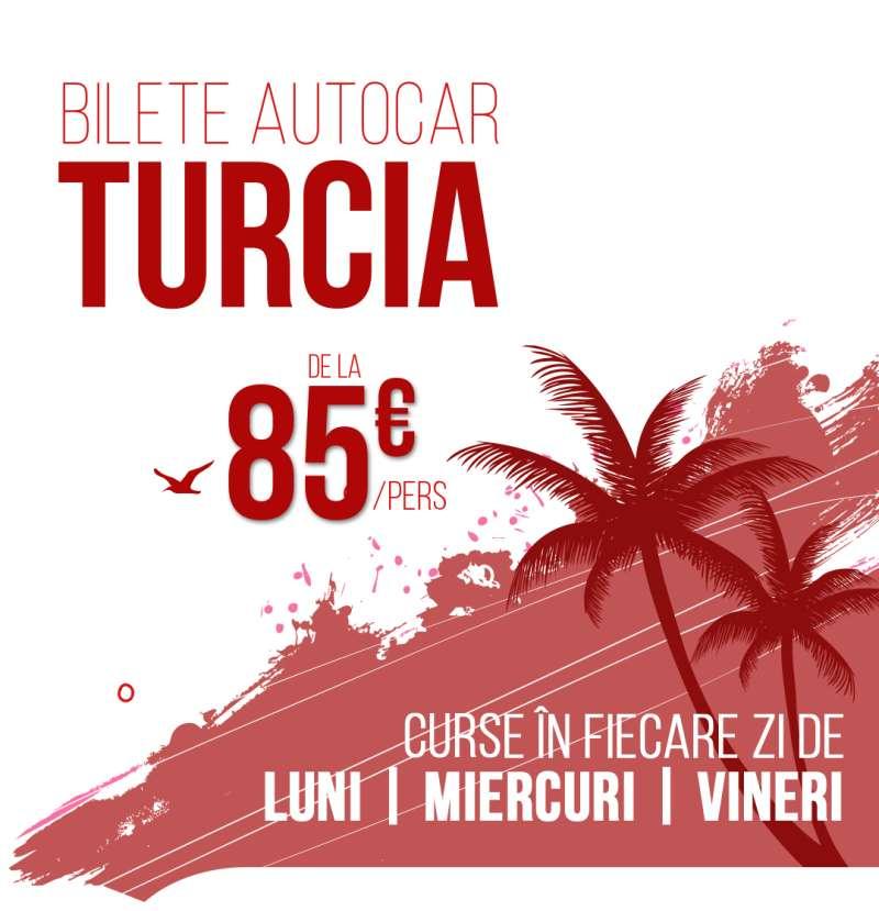 Bilete autocar Turcia Curse charter autocar