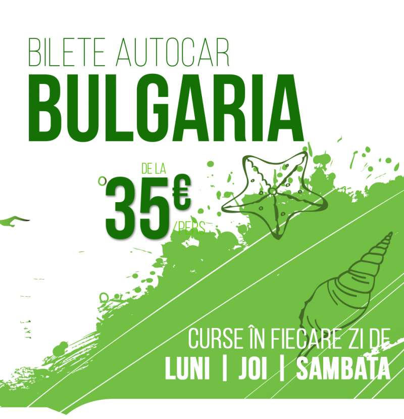 Bilete autocar Bulgaria Curse charter autocar